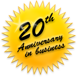 20th Anniversary in business